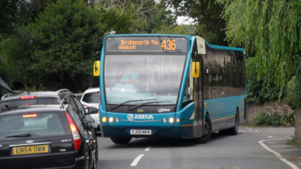An Arriva bus at Cressage, Shropshire