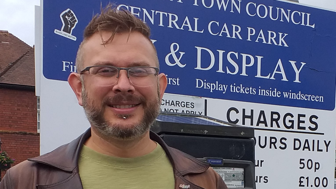 Mike Isherwood in Oswestry Central Car Park